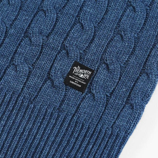 Cable-Knit Sweater in solid colors