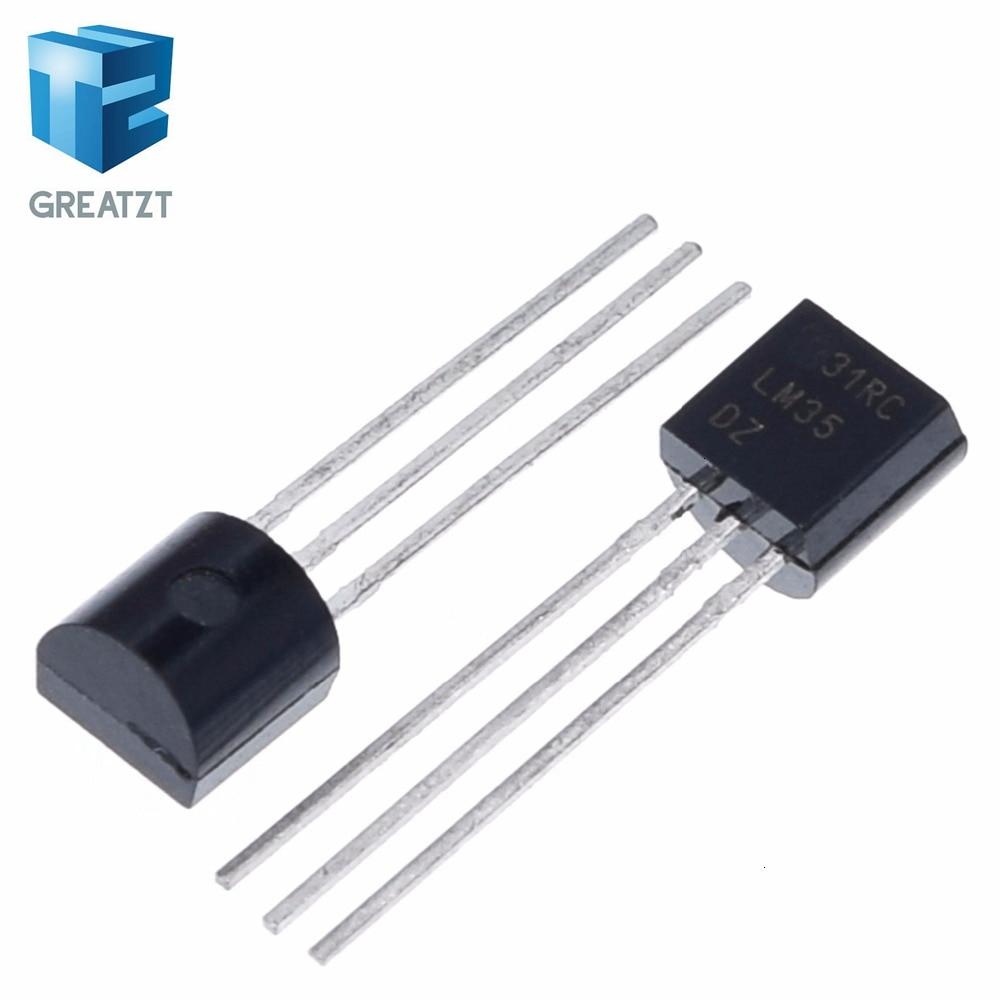 2PCS LM35DZ TO-92 Precision Centigrade Temperature Sensor For IC Low Impedance