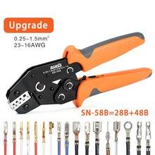 SN-58B=SN-28B+SN-48B crimp plier Suitable for DuPont 2.54/2.8/3.96/4.8/6.3 Plug Spring Terminal Crimping Pliers