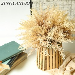 Autumn Misty Pine Needle Grass Artificial Plants Plastic Asparagus Fake Wall Flowers for Home Hotel Table Wedding Decoration