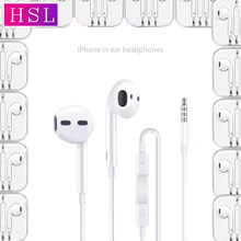 Kabel Earphone 3.5 Mm Kontrol Volume Sport Headset Musik Universal In-Ear Earbud dengan Kotak untuk Apple Iphone Samsung Redmi Xiaomi(China)
