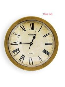 Safe-Box Jewelry Clock-Style Wall-Clock Cash-Money Secret Security Hidden Valuable