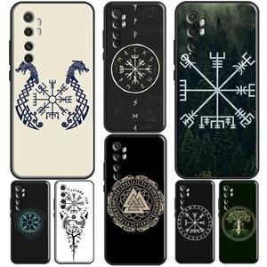 Vikings Vegvisir Odin Nordic For POCO X3 Case For POCO F2 Pro F1 Coque For Xiaomi Mi Note 10 Lite Ultra 9 9T Pro A3