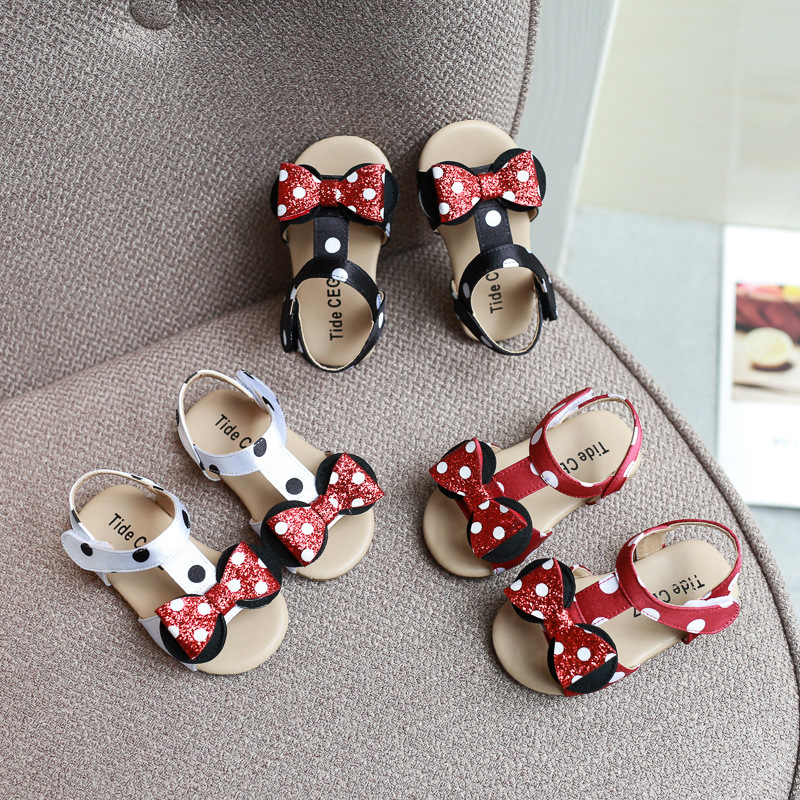 Spring And Summer Baby Girls Sandals Bows Princess Soft Bottom Toddler Shoes 0-2 Years Old Sandals  Baby Girl Shoes Sandals