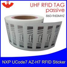 RFID наклейка UHF NXP Ucode7 чип AZ-H7 инкрустация 900 915 868 МГц 860-960 МГц Higgs3 EPCC1G2 6C смарт-карты Пассивные RFID метки этикетка