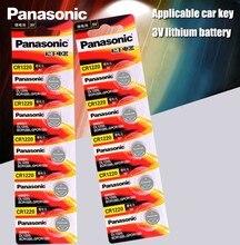 Оригинальные кнопочные аккумуляторы Panasonic CR1220, 10 шт./лот, CR 1220, литиевая монетная батарея 3 в, BR1220 DL1220 ECR1220 LM1220