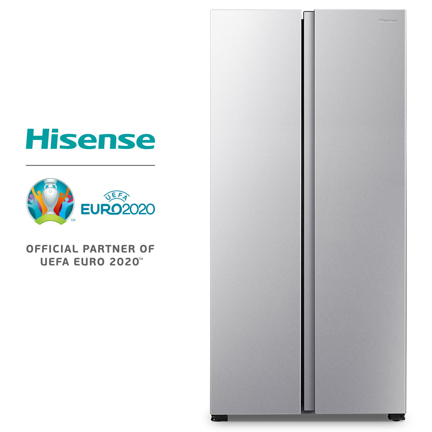 Hisense RS560N4AD1 Refrigerator, Refrigerator, 428 Litres, LED Light, No Frost, Double Door, Class A +, Side By Side