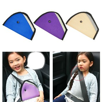 Child Seat Belt Adjustment Holder Car Anti-Neck Baby Shoulder Cover Seat Belt Positioner Child Seat Belt Clips for Kids Safety image