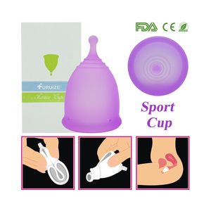 Image 2 - Nowy styl Sport menstruacyjny kubek 100% klasy medycznej silikonowe higieny kobiecej miesiączkowego puchar wielokrotnego użytku Lady cup Copa menstruacyjny