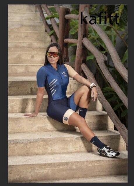 2020-kafit-sports ciclismo camisa coverall apertado verão manga curta conjunto ciclismo 9dgel almofada 1