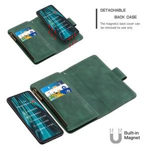 Image 3 - Zipper Flip Case For Xiaomi Redmi Note 7 8 Pro 9 Pro 8T 7A K20 Mi Note 10 CC9 Detachable Leather Magnet Wallet Stand Cover Coque