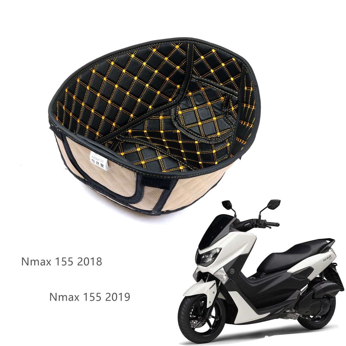 Nmax155 Rear Trunk Cargo Liner Protector Motorcycle Seat Bucket Pad Storage Box Mat For Yamaha N-max155 Nmax 155 2018 2019