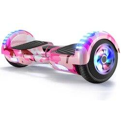 6,5-Zoll Smart Elektrische Balance Auto Kinder Erwachsene Zwei-rad Hoverboard fahrt statt Spaziergang Bluetooth Pferd Rennen lampe Schaukel Ca