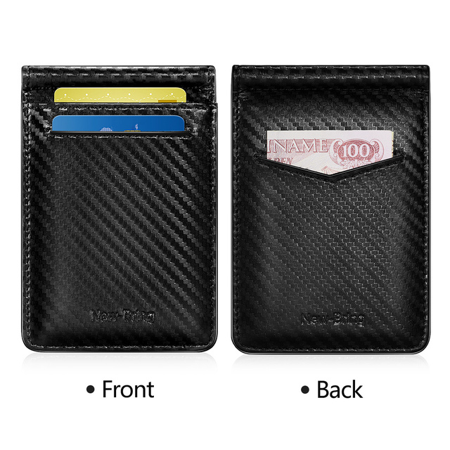 Men's cash purse ID card driver's license made of carbon fiber