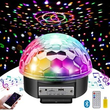 Wireless Disco Ball Party Lights Bluetooth Speaker 9 Colors TF Card MP3 Player Sound Activated LED DJ Lamp Wedding Party bar KTV