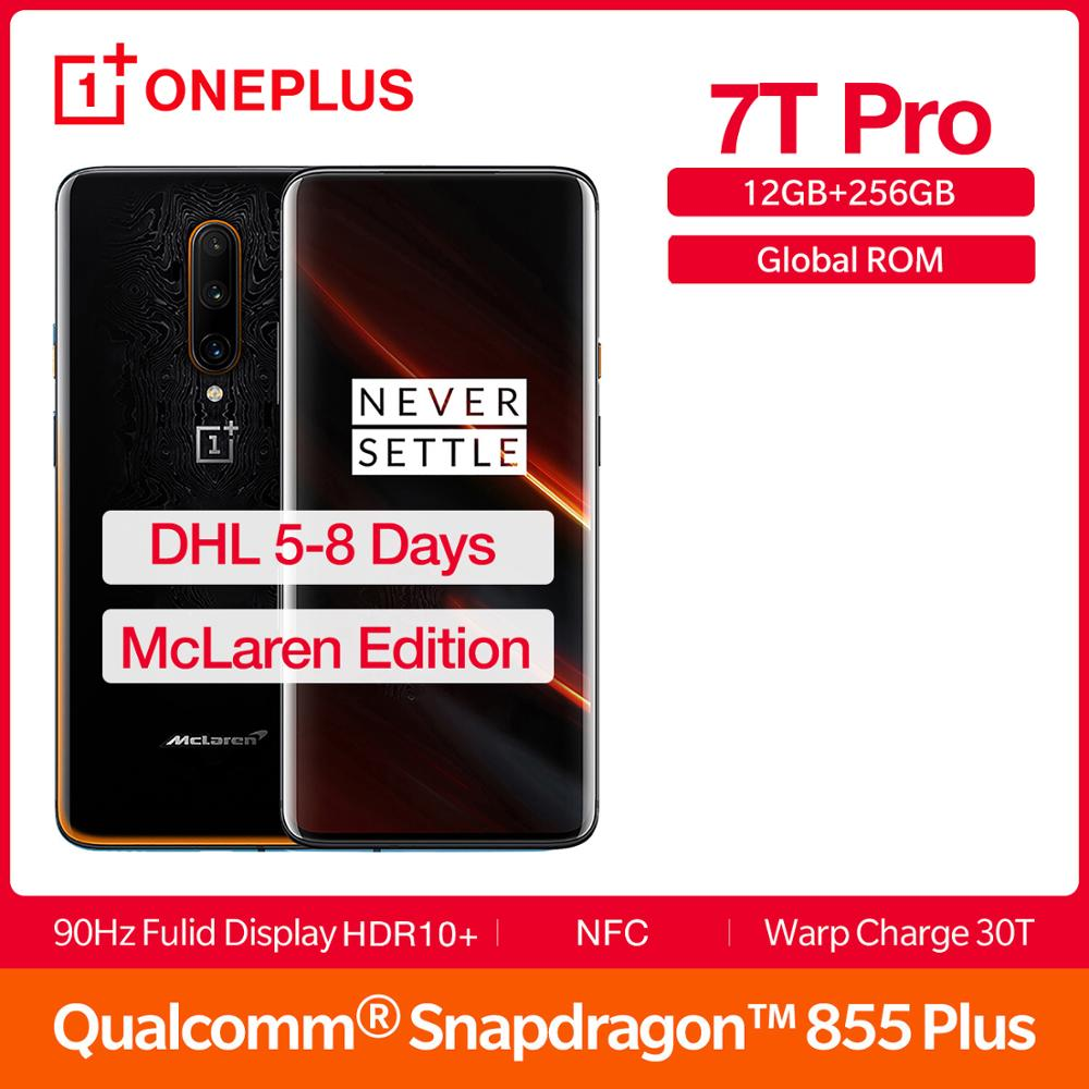2019 nova rom global oneplus 7 t pro 12 gb 256 gb mclaren edição smartphone snapdragon 855 plus 90 hz amoled 6.67