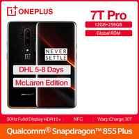 "2019 nuevo ROM Global OnePlus 7T Pro 12GB 256GB Mclaren edición Smartphone Snapdragon 855 más de 90Hz AMOLED 6,67 ""NFC Android 10"