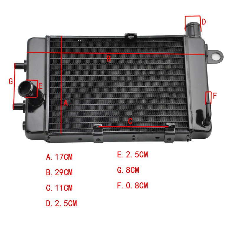 Motorcycle Parts Aluminium Cooling Radiator Right For Aprilia Tuono1000 RSV1000R Tuono RSV 1000 2002-2005 image