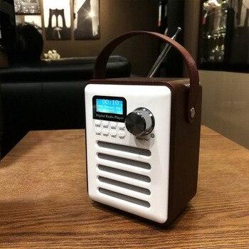 Wood Digital Bluetooth DAB/DAB+ FM Radio MP3 Player Wireless Speaker Stereo Radio