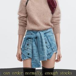 DEAT 2020 Новые весенние и летние модные женские шорты, джинсовые вставки с рукавами, имитация двух частей, женские сексуальные WF61405XL