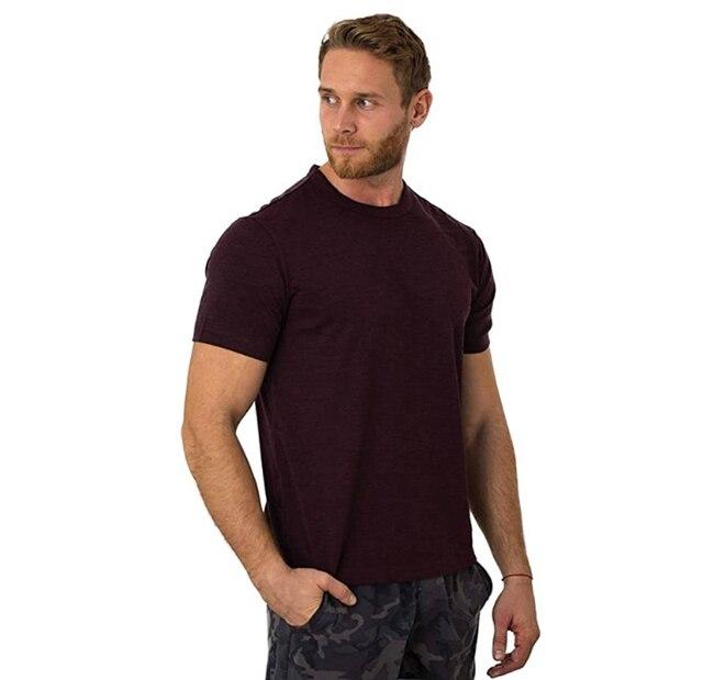 2021 Men's Merino Wool T Shirt Base Layer Wool Tee Men 100% Merino Wool Shirt 170gram Wicking Breathable Anti-Odor Size S-XXL 3