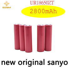 GZSM 18650 battery for Sanyo UR18650ZT rechargeable 2800mAh 3.7V 6A For powerbank