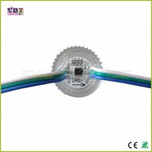 Image 4 - DC12V 26mm קוטר שקוף כיסוי ws2811 LED מודול חשוף נקודת אור 3 נוריות 5050 SMD RGB שבבי led פיקסל עמיד למים IP68