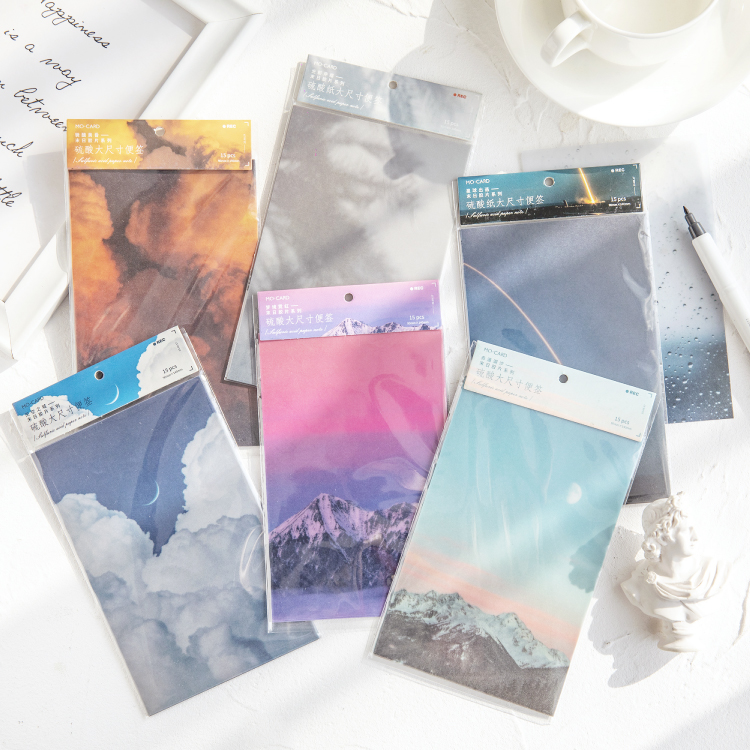 15 Sheets Memo Pad Sulfuric Acid Paper Figureseries Decoration Scrapbook Stickers Journal Stickers Supplies No Stickiness