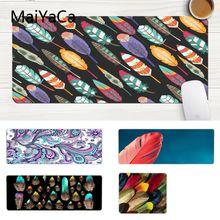 Красивое аниме maiyaca, Цветной силиконовый коврик с перьями для мыши, игровой большой коврик для мыши, компьютерный коврик для ПК, игровой коврик для мыши