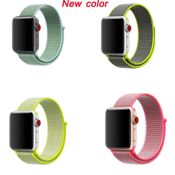 Series 5/4/3/2/1 Straps For Apple Watch Sport Loop Nylon Band 42mm Feel Wrist Wristband For Iwatch Bracelet 38mm 40mm 44mm