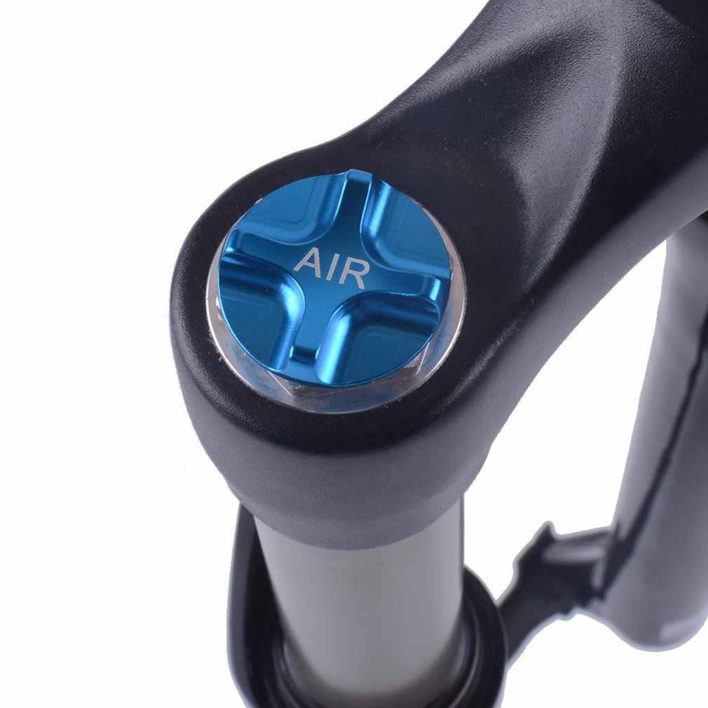 1PC CNC rower górski widelec gazu powietrza wartość pokrywa MTB przedni widelec Cap Protector części rowerowe złoty niebieski