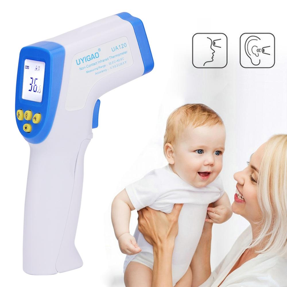 Digital Professional Thermometer XE-805B Non-contact Baby Adult Forehead Infrared Thermometer LCD Backlight Termometro DT8018