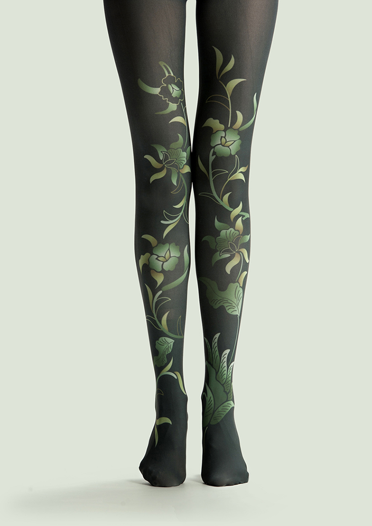 VP  Unique Stockings Unicorn Green Plants Black Pattern Tights High-quality  Silk Stockings 1 Order=1pc