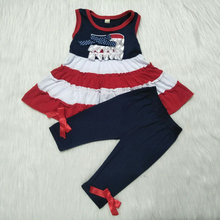 2019 Wholesale Designer Clothing Newborn Kids Baby Girl Summer Clothes Dress Top+Pants Leggings Outfits Set new free shipping girl lace white top red pants clothing set 2pcs set baby girl summer clothes baby girl clothing