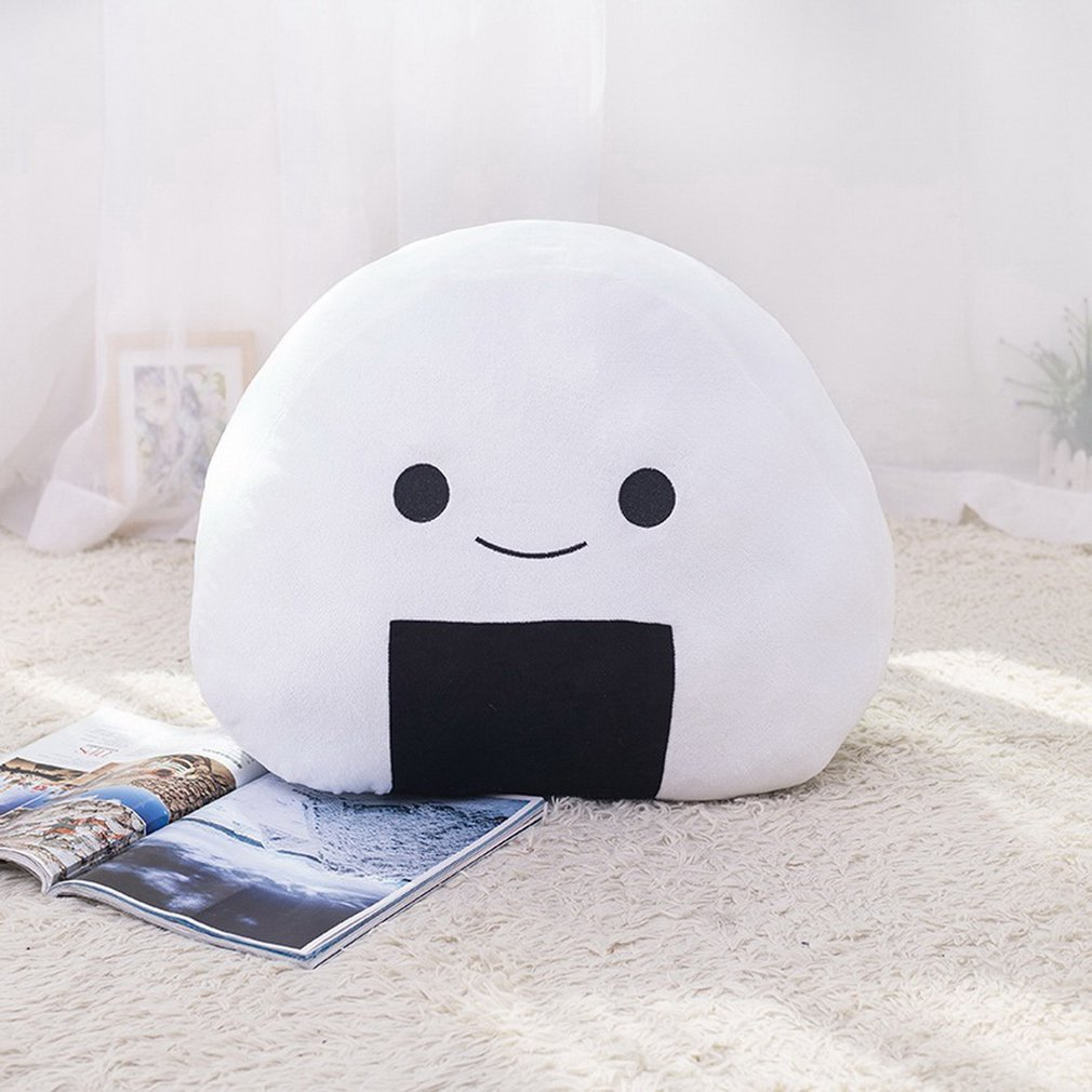 Cushion Cute Pattern Filled Plush Toy Pillow Activity Small Gift Pillow Home DecorationRice Ball Sushi