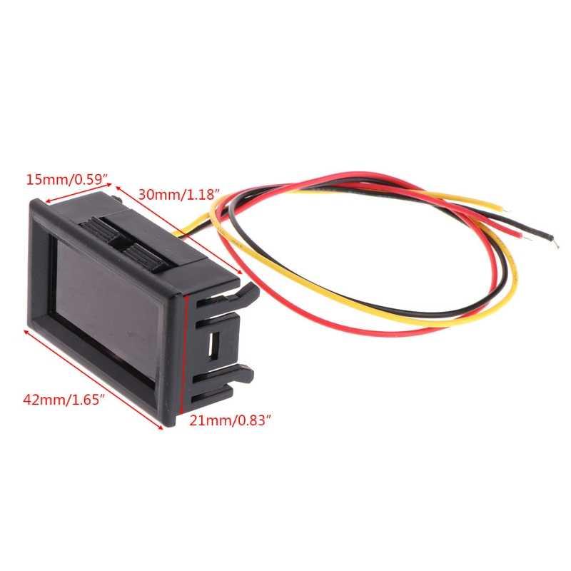 2 in 1 LED TACHOMETER Gauge ดิจิตอล RPM โวลต์มิเตอร์สำหรับมอเตอร์อัตโนมัติหมุนความเร็ว