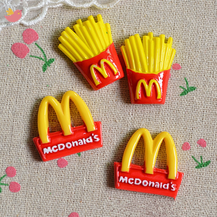 5Pcs/Lot Potato Chips Slime Charms Toy For Children Pretend Play Charms Modeling Clay DIY Accessory For Kids