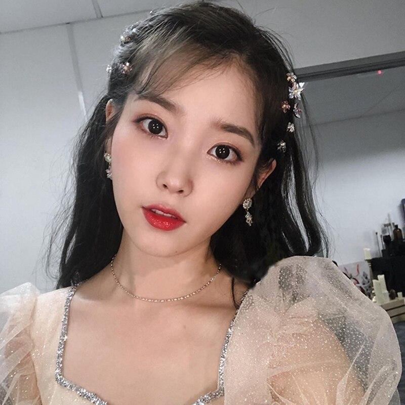 Купить женские блестящие серьги капельки mengjiqiao новые корейские