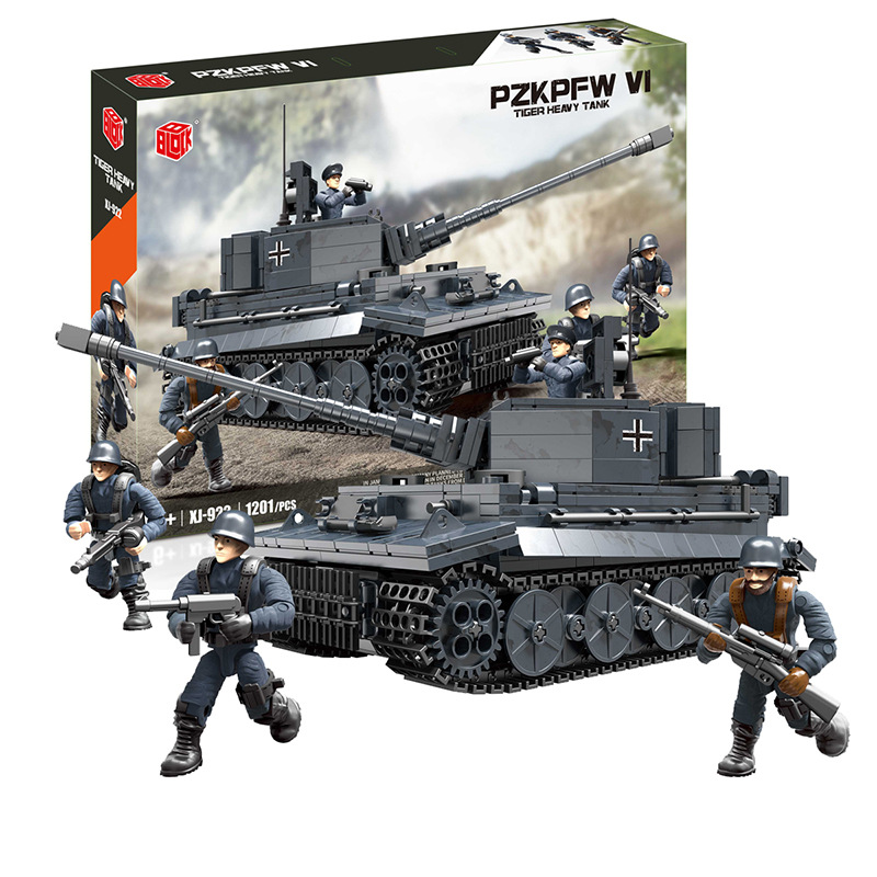 building block toy German army tank tiger tank small particles assembling building block children's toy