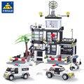 631Pcs City Polizei Station Bausteine Sets SWAT Lkw Ziegel Brinquedos Playmobil DIY Pädagogisches Spielzeug für Kinder