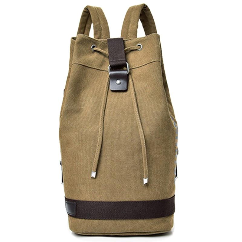 Large Capacity Rucksack Man Travel Bag Mountaineering Backpack Men Canvas Bucket Bags Male Canvas Backpacks