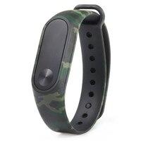 Repuesto de pulsera para Xiaomi Mi Band 2, Correa con patrón de camuflaje, reloj inteligente
