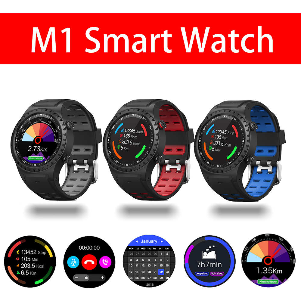 MRSVI <font><b>M1</b></font> Smart <font><b>Watch</b></font> Support SIM & Bluetooth Phone Call GPS Smartwatch Phone Men Women IP67 Waterproof Heart Rate Monitor Clock image
