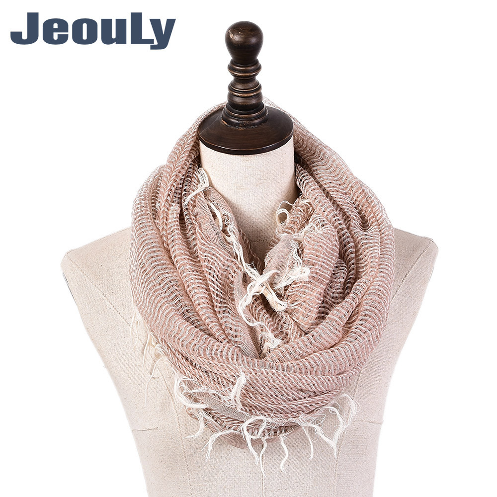 2019 New Style Spring And Autumn Cotton Linen Monochrome Scarf Versatile Men And Women Yarn Dyed Pullover Scarf