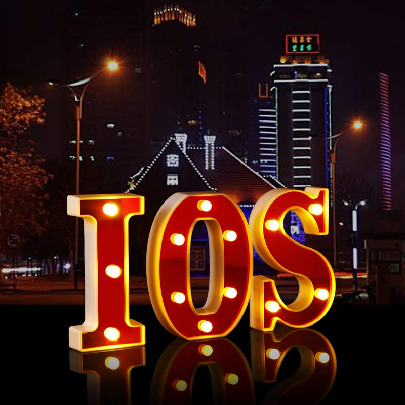 LED Marquee Letter Lights 26 Alphabet Night Lights Lamp For Birthday Party Home Bar Decor LE66