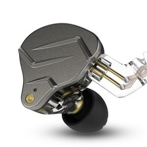 Image 1 - KZ ZSN פרו מתכת אוזניות 1BA + 1DD היברידי טכנולוגיה HIFI בס אוזניות באוזן צג אוזניות ספורט רעש ביטול