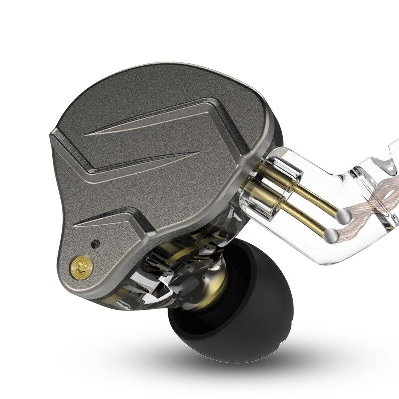 KZ ZSN Pro Metal Earphones 1BA 1DD Hybrid technology HIFI Bass Earbuds In Ear Monitor earphone Sport Noise Cancelling