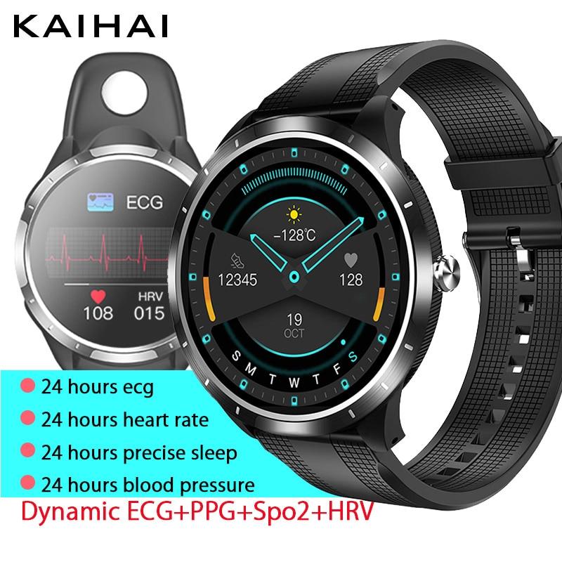 Kaihai relógio inteligente masculino para ios/android smartwatch 2021 relógios de pulso 24 horas sono rastreador de fitness monitor relógio