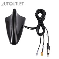 AUTOUTLET For DAB Car Aerial Antenna SMA Adapter AM/FM Shark Fin Roof Decorate Aerial RG174