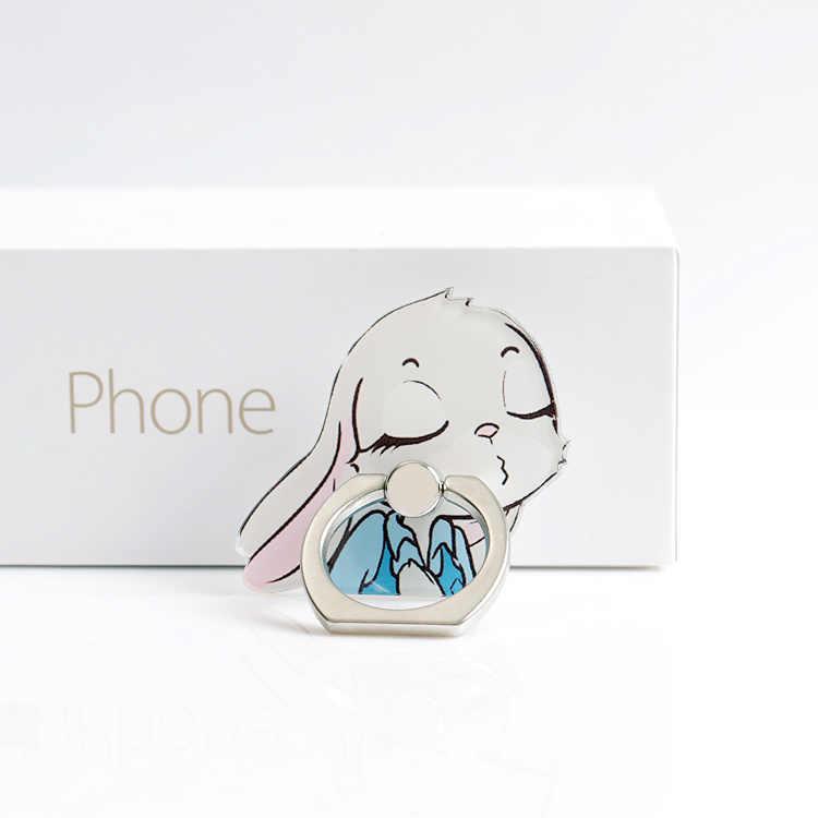 Conejo Judy Fox Nick soporte de teléfono móvil Universal soporte de anillo de teléfono soporte de anillo de dedo